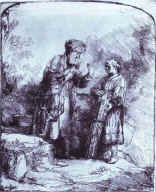 Rembrandt. Abraham and Isaac.